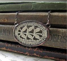 framed lace necklace