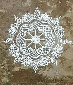 Koolams Rangoli Borders, Rangoli Border Designs, Rangoli Designs With Dots, Beautiful Rangoli Designs, Kolam Designs, Henna Designs, Sanskar Bharti Rangoli Designs, Kolam Rangoli, Easy Rangoli