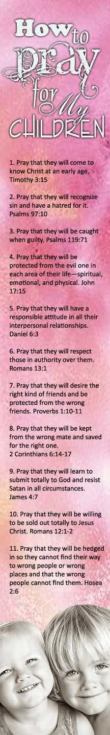 how to pray for my children :)