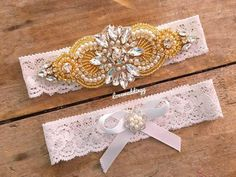 Pearl gold garter set plus size garters crystal garter Bride Garter, Wedding Garter Set, Lace Garter, Barefoot Wedding, Wedding Underwear, Pearl Rose, Rose Gold, Wedding Day Gifts, Bride Accessories
