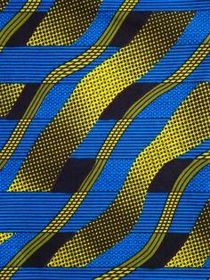 Blue and  yellow African print Fabric, African fabric by the yard, Wax print fabric, African clothing, Ankara fabric, ethnic fabric,cotton by Shopafrican on Etsy