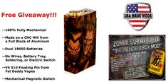 Enter to WIN one of 3 Infected Box Mods made by USA Made Mods!