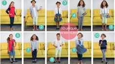 Back to School: Girl Cluster Wardrobe - 10 Pieces for 10 Outfits