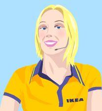 Hej! Anna, der IKEA-Avatar - Die virtuelle Kollegin beantwortet 24 Stunden am Tag Kundenanfragen