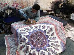Hand block printing, Iran