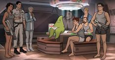 The First Look at Archer: 1999 Promises Cheeky Action in Outer Space: The Archer gang started off as international… Archer Tv Show, Sterling Archer, Show Runner, Behind The Screen, Classic Sci Fi, Long Relationship, Video On Demand, All Episodes, Comedy Series