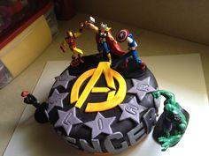 Avengers Birthday Cake Made by Judy Walker