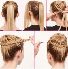 How to turn a ponytail into a French plat bun