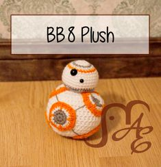 BB8 Plush - free crochet pattern at Auburn Elephant.
