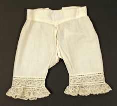 Drawers Date: late 19th century Culture: American Medium: cotton Dimensions: Length: 13 in. (33 cm)