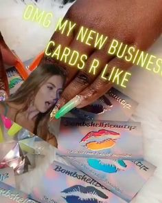 """""""Omg my new business cards are fire 🔥 thank u 🔥"""" Fancy business cards designed and printed for . Foil Business Cards, Goal Board, Holographic Foil, Thank U, Cosmetology, Business Card Design, Unicorn, Print Design, Printing"""