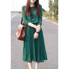 $14.46 Charming Ruffle Solid Color Beam Waist Chiffon Party Dress For Women