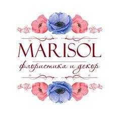 MARISOL, logo, логотип, flowers, decor