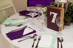 Table numbers may not be as exciting as table names, but the ways in which our couples have chosen to display their numbers sure are. Here are a few of our favorites.