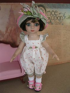 """New 4 PC Outfit Fashion w Shoes Patsy Ann Estelle Tonner 10"""" Doll Pink Rosebuds 