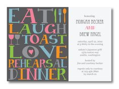 Printable Rehearsal Dinner Invitation by kristinb2d on Etsy, $15.00