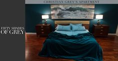 Ready for bed at Christian Grey's Apartment.