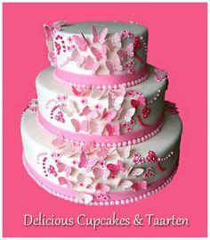 Descendants Cake, Birthday Cakes For Women, Cupcake Cakes, Cupcakes, Butterfly Cakes, Cake & Co, 50th Birthday Party, Cake Tins, Celebration Cakes