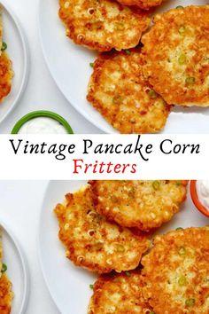 Vintage Pancake Corn Fritters #Vintage #Pancake #Corn #Fritters