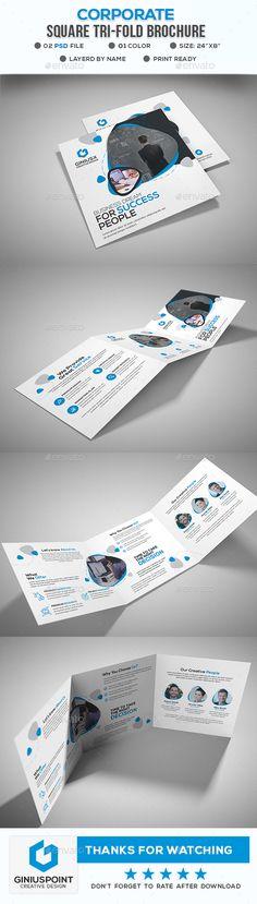 Printable Tri Fold Brochure Template Square Brochure Template #template  Square Brochure Template .