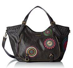 #Desigual Tasche - Modell Bols Rotterdam Suzie. Muster: Mandala, schwarz.