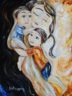 mother and child art print Time In archival signed by kmberggren Baby Painting, Painting For Kids, Art For Kids, Mother And Child Painting, Sisters Art, Happy Hour, Sign Printing, Mothers Love, Original Paintings