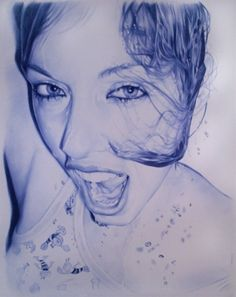 Juan Francisco Casas is a Spanish artist who takes inspiration from nightlife excursions with his friends to make these amazing ballpoint pen drawings– everything is realistically executed by humble ballpoint pen, so naturally the pieces only come in blue or black ink.