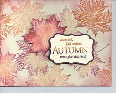 Fall Ideas by lkarr309 - Cards and Paper Crafts at Splitcoaststampers