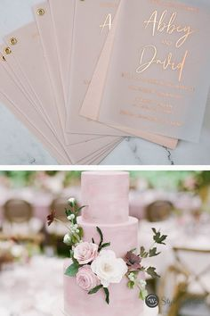 Stunning foiled invitations on a luxurious vellum and paired with simple shimmer paper. Anyone loves this design?
