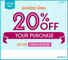 "http://oldnavycoupon.net/. Old Navy Limited Time 20% OFF your Purchase Use Code ""ONSAVENOW"" Online only. https://www.facebook.com/photo.php?fbid=577355242313977"