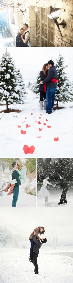 "The greatest Christmas joy comes out of spending quality time with your loved ones to appreciate each other and just to have fun.  Remember to capture this love and joy with some memorable Christmas photos to make your holidays more romantic! Here are some sweet Christmas photo ideas for couples who want to say ""we …"