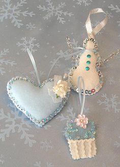 Felt Ornaments ~ Gorgeous!