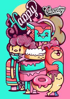 collection illustration / 11 on Behance Graffiti Doodles, Graffiti Cartoons, Graffiti Wall Art, Graffiti Wallpaper, Character Illustration, Graphic Design Illustration, Graphic Art, Illustration Art, Illustrations