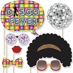 70's Disco - Photo Booth Props Kit - 20 Count Big Dot of ...