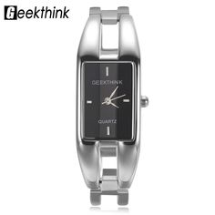ec884074486a GEEKTHINK Luxury Brand Quartz Watch Women rectangle Stainless steel band  female clock Bracelet Lady Casual Wristwatch gift New   Pub Date  Feb 7 2017