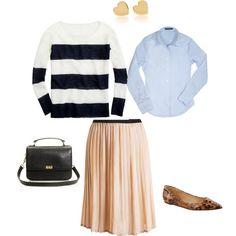 Sweater + skirt combo