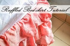 DIY Project: Easy Ruffled Bedskirt Tutorial Using Old Bedding  #diy #sewing