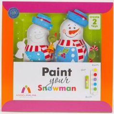 Décoration de Noël en carton : Peints ton Bonhomme de neige