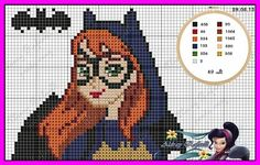 Bat girl x-stitch