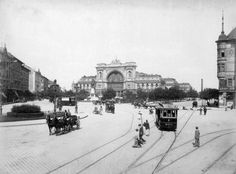 Baross Square and Keleti Railway Station. Early 1900's #Hungary #Budapest