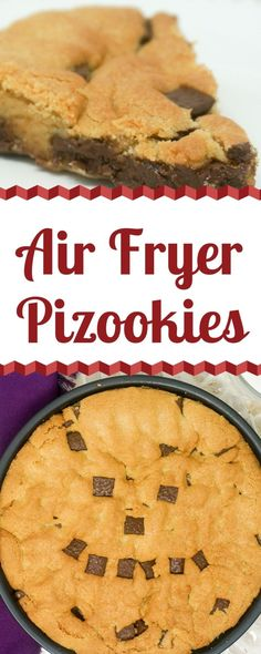 Air Fryer Chocolate Chip Cookie - Chocolate Chip Cookies are a perfect dessert to make in the Air Fryer. It only takes 10 minutes to bake up piping hot Air Fryer Chocolate Chip Cookies. Top with a scoop of vanilla ice cream. == CLICK THROUGH TO SEE! Air Fryer Recipes Potatoes, Air Fryer Oven Recipes, Air Fryer Chicken Recipes, Air Fryer Cake Recipes, Air Fryer Chicken Tenders, Air Fryer Chicken Wings, Chocolate Chip Cookies, Chocolate Chips, Chocolate Cake