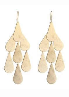 Tear Chandelier Earrings in Gold - Worn on Pretty Wicked Moms and Get Swank'd by Emily Dees Boulden. - See also the other Available Colors: Silver These are Emily Dees Boulden's Signature Earrings! As