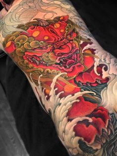 Foo Dog - White Dragon Tattoo