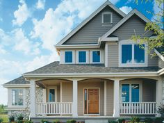 Luxury Two-Story Home With Arts & Crafts Influence | Plan 072D-0005
