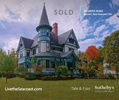SOLD! 34 Hayes Road/Madbury NH...reproduction Victorian on 12.9 acres of rolling meadows and 90 acres of conservation land. Designed by famous architect George Barber in 1882, this whimsical home is adorned with Dr. Suess's front door! Full of reverie, it is a happy place to live deeply, frolic and dream in the privacy you deserve. Congratulations to our Seller Client and Listing Agent Andrea DuGrenier Swanson.