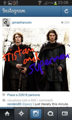 James Franco published this pic earlier on his Instagram.