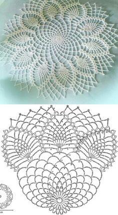 como hacer tapetes a crochet con patrones Knitting PatternsCrochet For BeginnersCrochet ProjectsCrochet Scarf Crochet Tablecloth Pattern, Free Crochet Doily Patterns, Crochet Doily Diagram, Crochet Circles, Crochet Chart, Thread Crochet, Crochet Designs, Crochet Stitches, Crochet Rugs