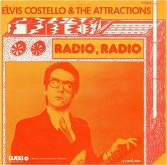 "Elvis Costello & The Attractions - Radio Radio [1978;  WEA WB 17.264│Belgium] - 7""/45 vinyl record"