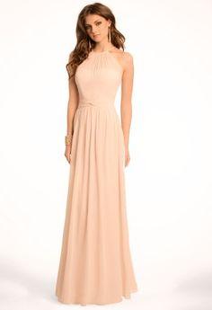 Illusion Halter Chiffon Dress from Camille La Vie