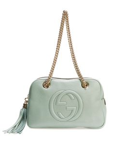 "Gucci ""Soho"" Double Chain Leather Shoulder Bag"